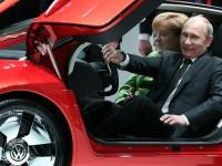Путин и Меркел на Хановерския панаир
