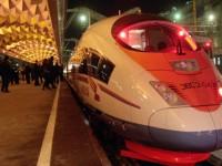 """От Москва до Санкт Петербург на покрива на скоростния влак """"Сапсан"""""""