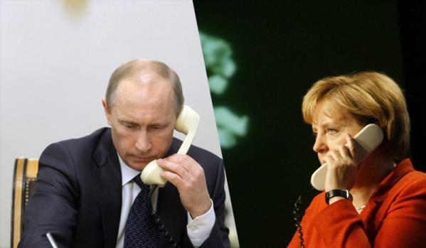 Путин и Меркел обсъдиха ситуацията в Украйна