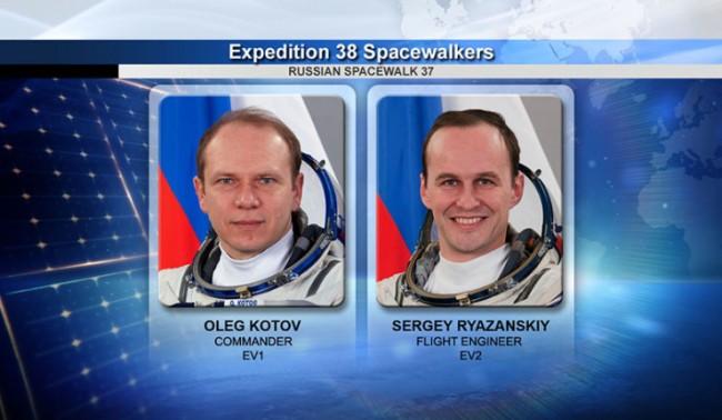 Руски космонавти в открития космос