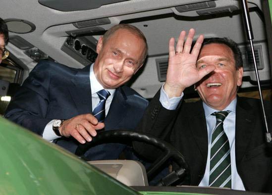 Герхард Шрьодер отпразнува 70-ия си юбилей с Путин