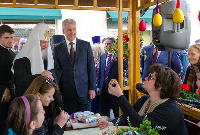 Великденски чествания в Москва Патриарх Кирил