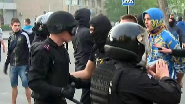 14 души пострадаха при сблъсъците в Харков