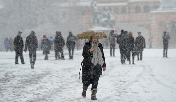 Неочакван сняг в Русия