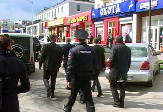 Трима въоръжени мъже са взели заложници в банка в град Белгород