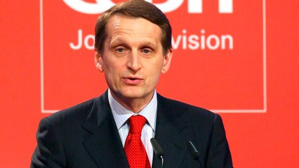 Наришкин: Визитата ми в България е отменена заради натиск от САЩ