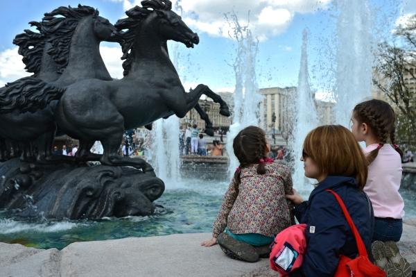 В Москва беше открит сезона на фонтаните