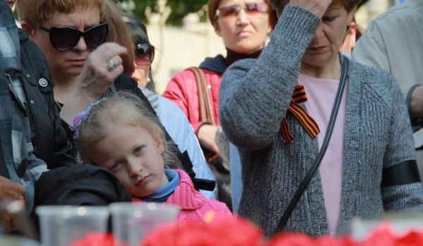Митинг в Харков в памет на загиналите в Одеса