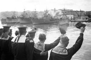 Демобилизация моряков Черноморского флота в 1945 году