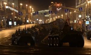 Репетиция военного парада на Красной площади в Москве