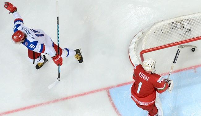 Руският национален отбор по хокей: 7 победи от 7 мача
