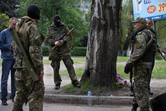 Контролно-пропускателен пункт в околностите на Славянск е бил подложен на минометен обстрел