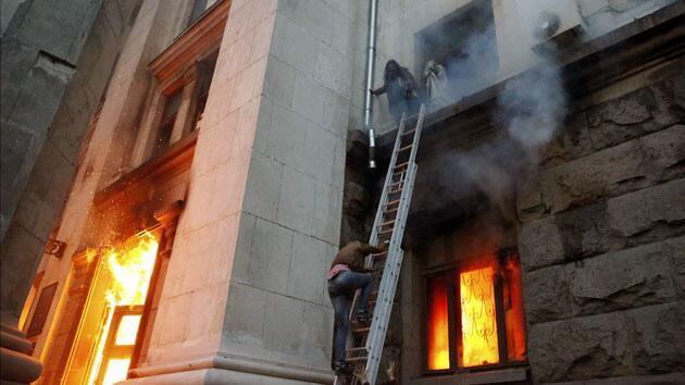 Истината от Дома на профсъюзите в Одеса (+18) ВИДЕО
