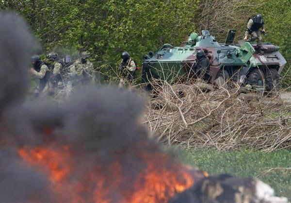 Славянск отново бе подложен на артилерийски обстрел