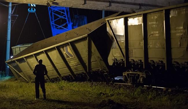 Взривиха ЖП-мост в Харковска област
