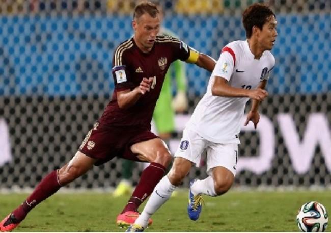 Русия и Южна Корея завършиха 1:1