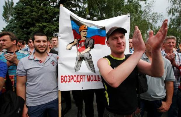 Хиляди миньори излязоха на митинг в Донецк