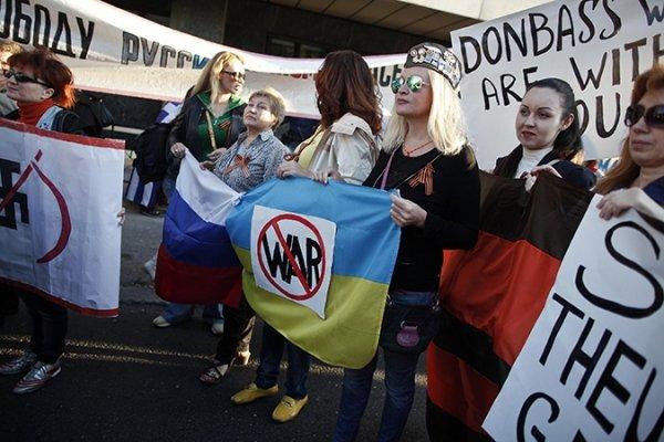 В Испания протестираха в подкрепа на Донбас