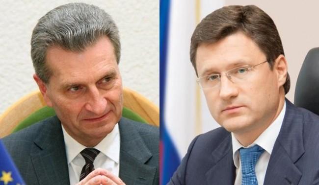 """Йотингер и Новак ще обсъждат """"Южен поток"""" в Москва"""