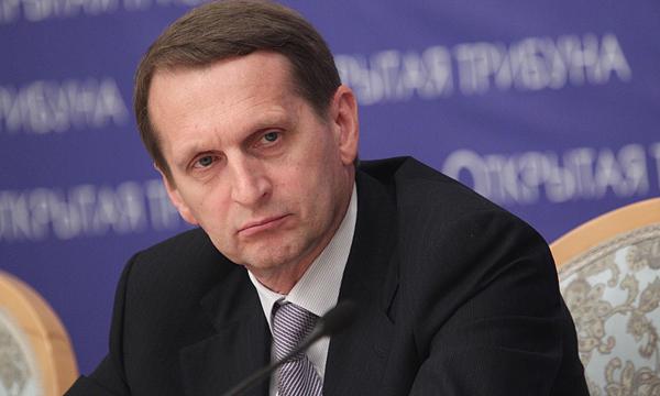 Наришкин призова украинските власти да удължат примирието