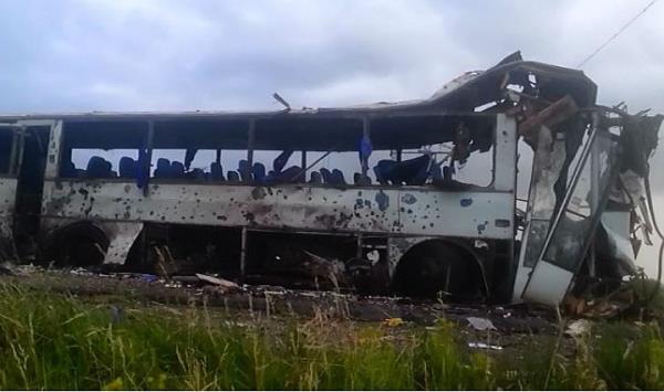 Нацгвардията обстреля автобус с миньори в Луганска област