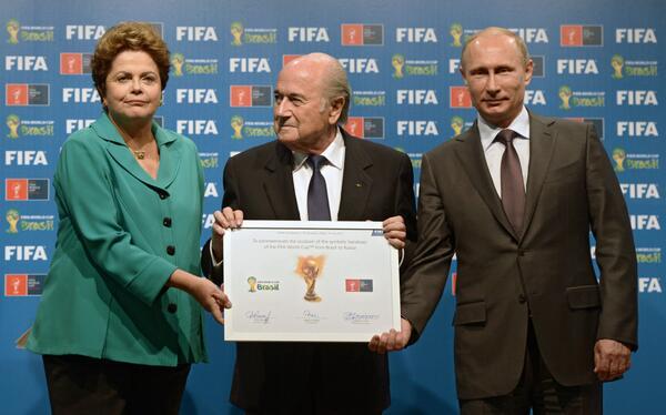 Русия пое щафетата за провеждане на световното първенство по футбол 2018