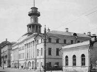 Пожарното депо и Полицията на Пречистенка, снимка 1900г.