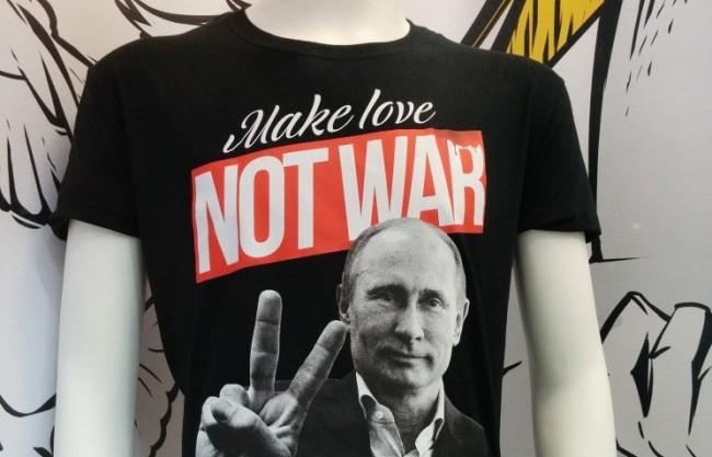 В Ню Йорк продават тениски с образа на Путин