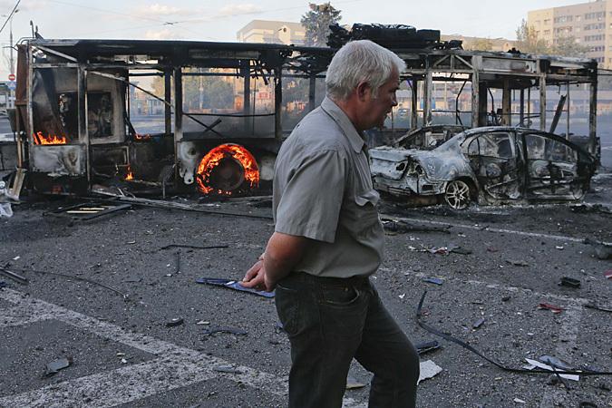 Донецк е под обстрел  2