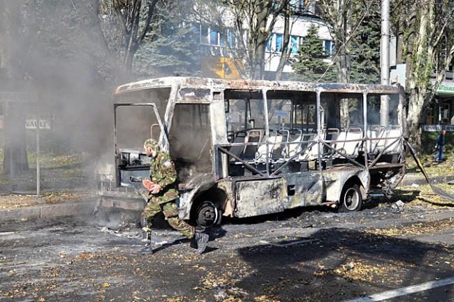 """Украинските военни отново обстреляха Донецк със """"Смерч"""""""