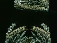 Диадема «РУССКОЕ ПОЛЕ», злато, сребро, брилянти, рози.  В. Николаев. 70-те години на ХХ век