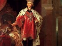 В. Боровиковский. «Павел I с корона   и знаци на Малтийския орден». 1820 г.