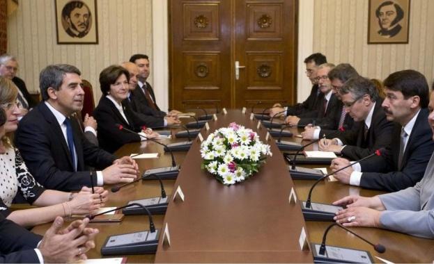 """Президентите на България и Унгария обсъдиха """"Южен поток"""""""