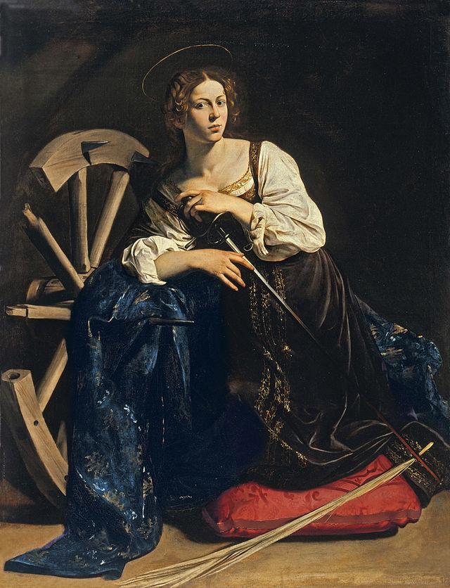 Света Екатерина Александрийска от Караваджо, 1598