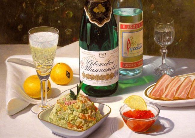 Нови варианти за новогодишен тост: какво се пие в Русия