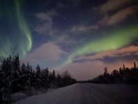 В Мурманска област заснеха полярно сияние (видео)