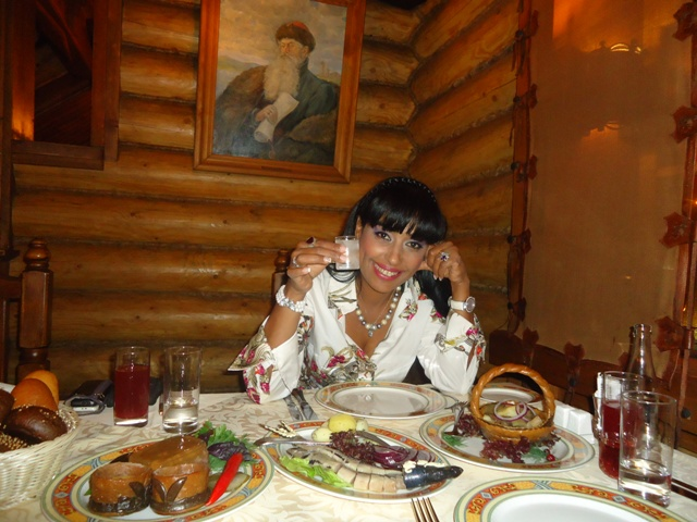Оля Ал-Ахмед в един от любимите ресторанти на В.В.Путин в Москва
