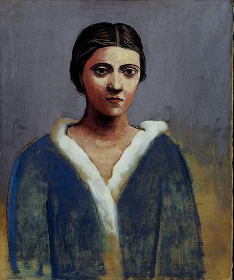 """""""Портрет на жена """" . Пикасо 1923 г."""