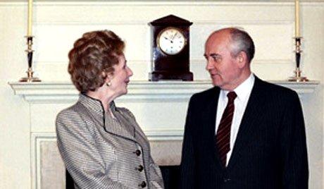 Маргарет Тачър и Михаил Горбачов. © Архивно фото: РИА Новости