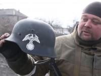 Украинските военни воюват с фашистки каски