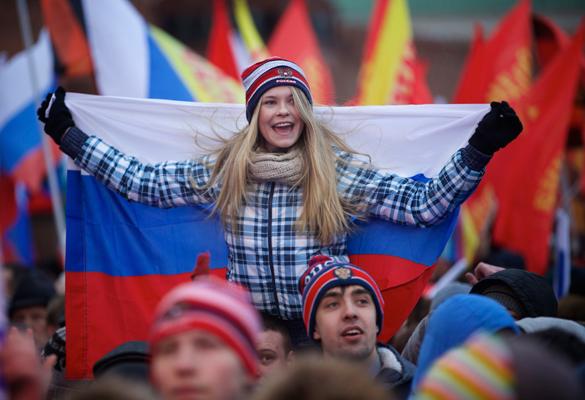 Москва празнува присъединяването на Крим с грандиозен концерт