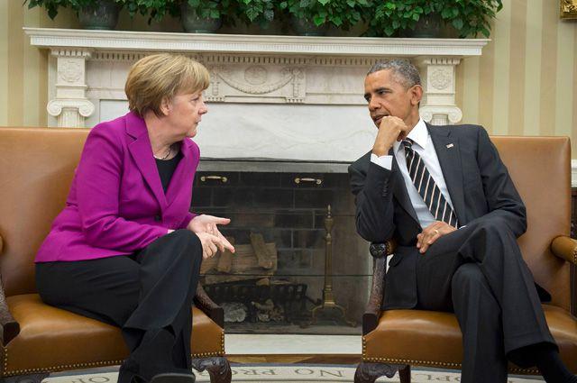 Меркел убеди Обама да не доставя оръжие на Киев