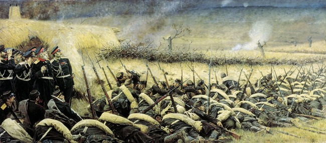 Пред атака. Плевен 1877 г. Художник Василий Верешчагин