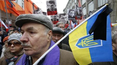 Траурното шествие в памет на Борис Немцов