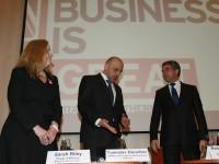 Президентът Росен Плевнелиев и вицепремиерът Томислав Дончев бяха посрещнати на форума от Сара Райли, и.д. посланик на Великобритания у нас. Двамата се разминаха в оценките си за руските инвестиции у нас.