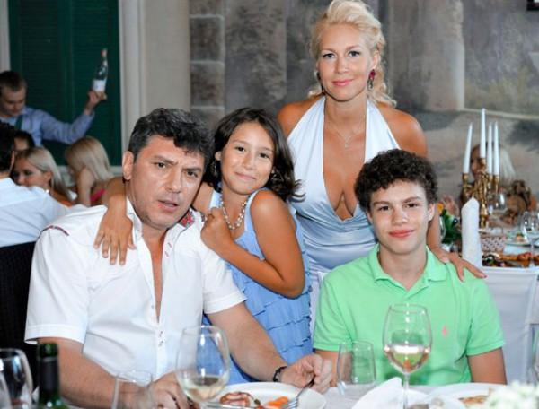 Борис Немцов, Екатерина Одинцова и техните деца