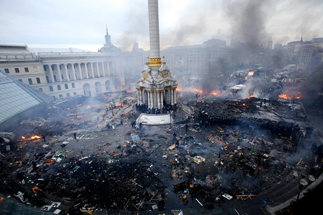 Киев. Майданът през  февруари 2014 г.