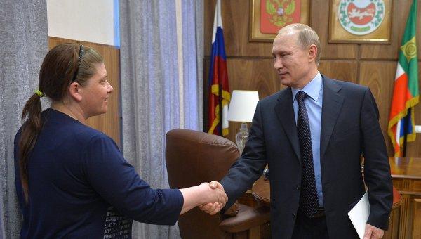Путин посети пострадалия от пожарите сибирски регион