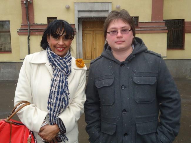 "Оля Ал-Ахмед с Юрий Барсуков, журналист от  в. ""Коммерсант"""