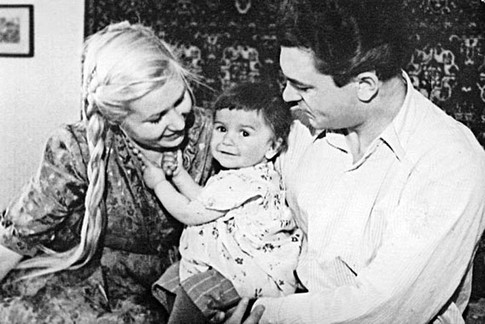 С Бондарчук и щерката Наталия